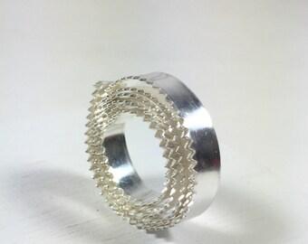Serrated bezel wire, 1 ft.Fine Silver .999  3/16 26 ga. Cabochon setting wire
