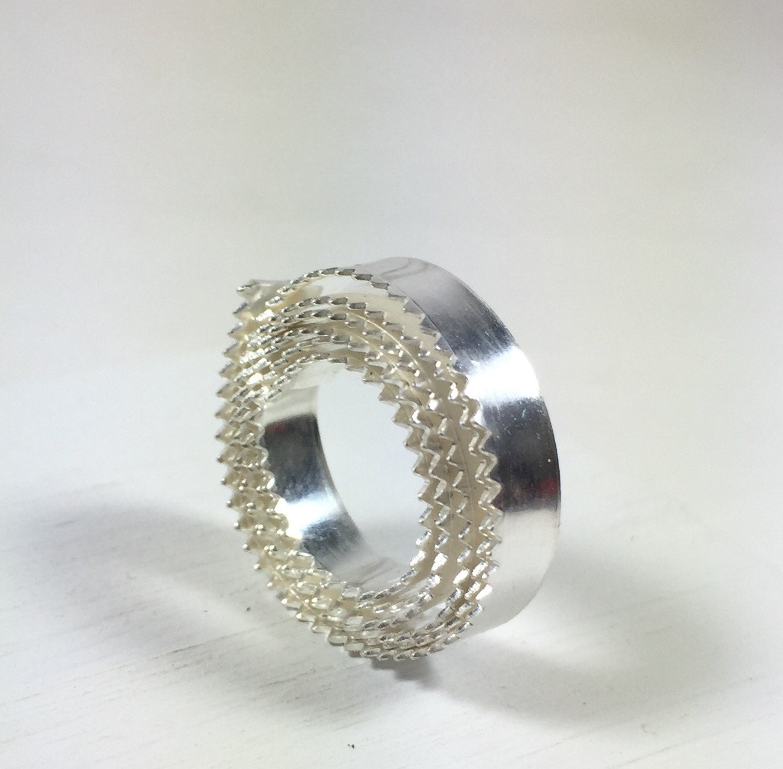Serrated bezel wire, 1 ft.Fine Silver .999 3/16 26 ga. Cabochon ...