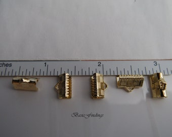 10 mm Lace Cap, 16k Gold Plated Brass, End Cap, 8 pc, Quality Jewelry Findings