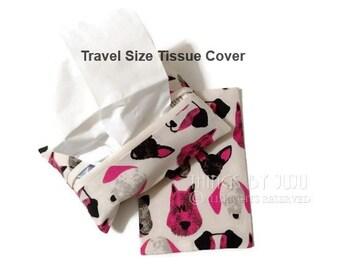 Fabric Tissue Cover Dog Lover Gift Travel Tissue Cover Purse Pack Tissue Holder Stocking Stuffer Get Well Gift Valentine For Her Gift Card