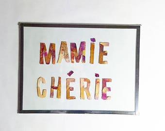 Dried flowers - Darling Grandma frame