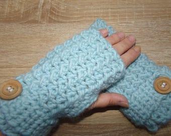 Crocheted Merino Alpaca mittens
