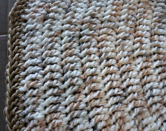 Thick soft floor rug. Home decor. Wool rug