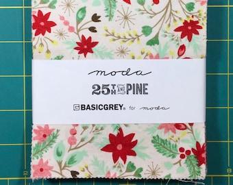 25th and Pine basicgrey moda fabric Charm Pack oop htf