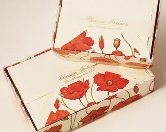 Poppy Italian Letterpress Note Cards