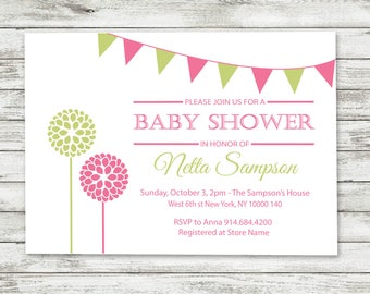 Baby Shower invitation couples - boy or girl Digital Download