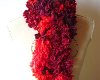 NEW model: Fancy red and black gray scarf