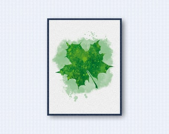 Leaf Watercolor Poster