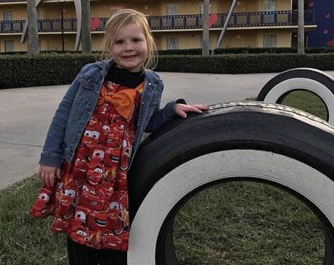 Cars Bowknot Hattie Dress