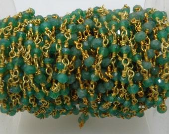 green onyx rosary chain