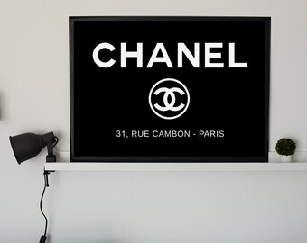 Chanel logo, Black and white print, Affiche Scandinave, Coco Chanel quote print, Scandinavian Print, Printable chanel art