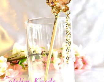 "Japanese hair jewelry Kanzashi ""Sakura cherry blossom"""