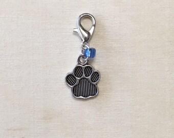 Paw Print | Dog Paw | Cat Paw Stitch Marker | Progress Keeper | Zipper Pull