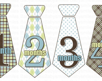 FREE GIFT Monthly Tie Stickers Boy Month Stickers Monthly Baby Stickers Monthly Milestone Stickers Baby Month Monthly Bodysuit Stickers Gift