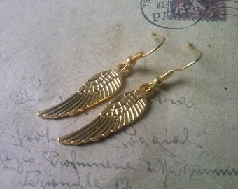 Wing Earrings ~ Gold Colors ~