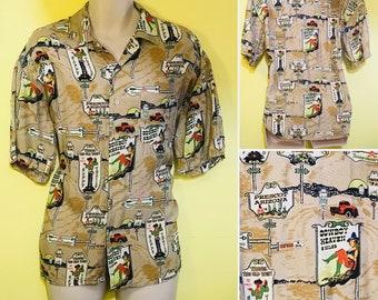 Vintage cowboy shirt, size S, arizona, Wild West shirt.