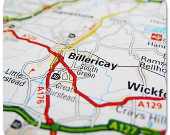 Billericay Map Coasters
