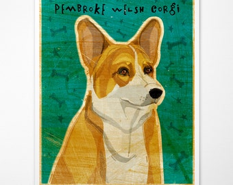 Gift for Coworker Gift, Pembroke Welsh Corgi Print, Dog Wall Art, Welsh Corgi Art, Dog Print, Corgi Gifts, Corgi Gift for Corgi Lover, Gifts