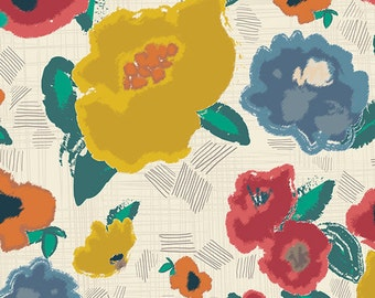 Ad Lib Blooms Shout,  Artisan Collection,  Floral Fabric, Art Gallery Fabrics, Pat Bravo,  ART-43100