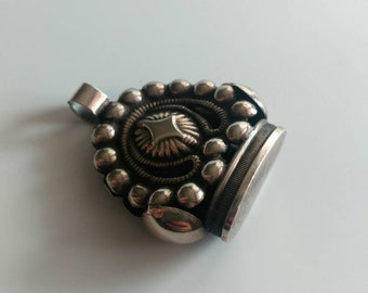 Antique silver watch fob