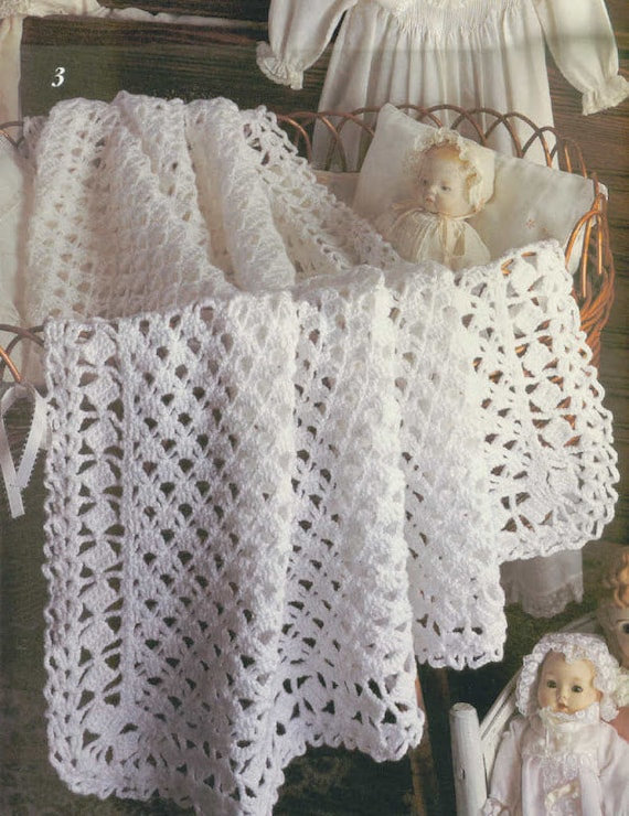 Instant pdf download vintage crochet pattern to make a lacy heirloom instant pdf download vintage crochet pattern to make a lacy heirloom baby christening shawl or blanket for cot crib pram from ickythecat on etsy studio dt1010fo