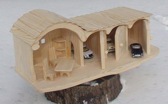 Puppe Haus Spielzeug Garage Holzspielzeug Garage Haus Mit Garage Gnome Haus Holz  Garage Spielzeug Aus Holz, Spielzeug Für Die Junge Haus Jouet Bois