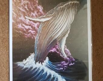 Star Whale A3 High Gloss Print