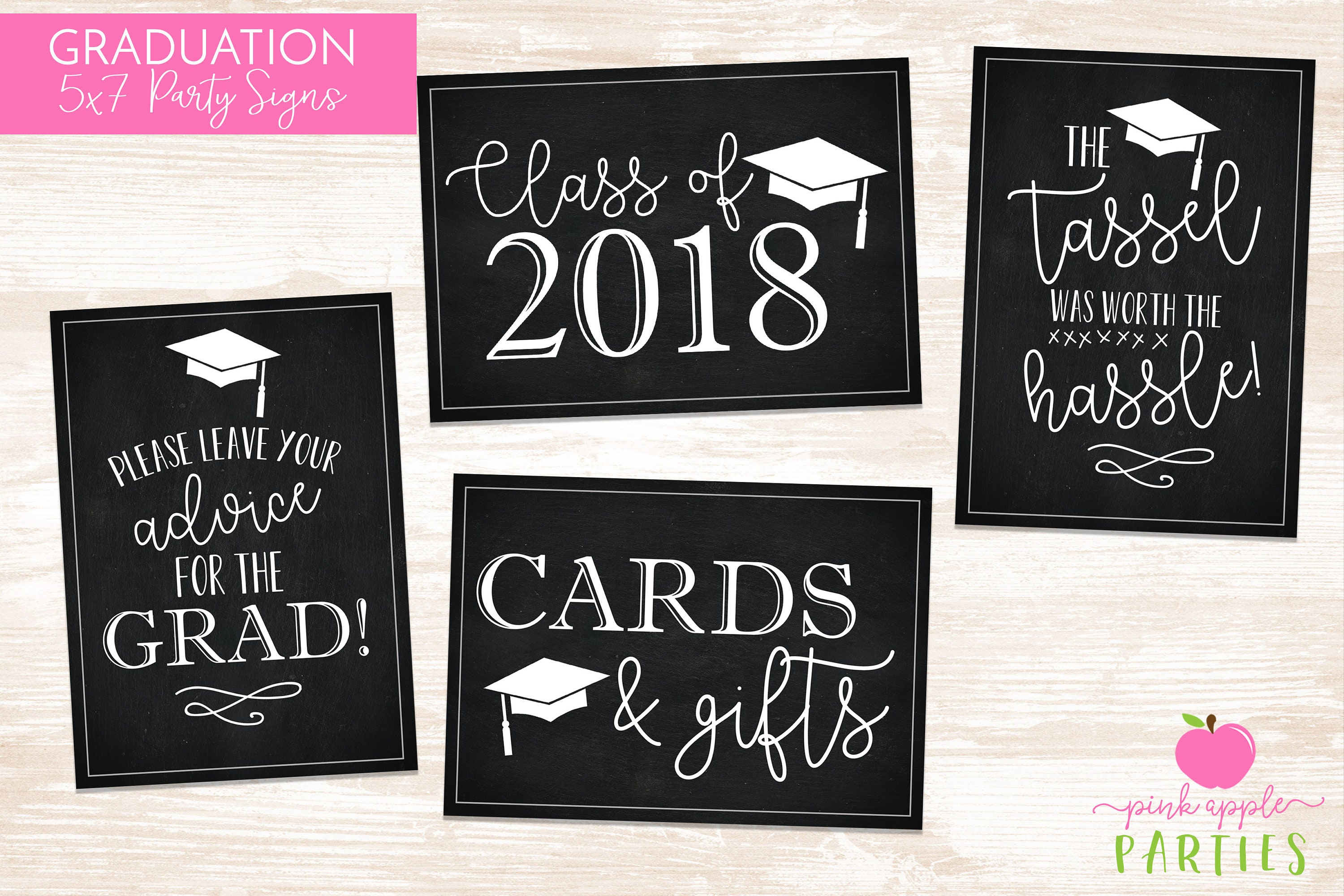 graduation party signs set of 4 printable 5x7 signs for