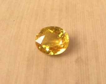 Yellow Sapphire Loose Stone - Natural Sunny Yellow Oval Sapphire Gemstone for Your Laurie Sarah Engagement Ring - LSG366