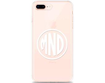 iPhone 7 Plus Case MONOGRAM iPhone 8 Plus Case, iPhone X Case, iPhone 6s Plus Case, iPhone 6 Plus Case, iPhone SE Case, RUBBER Phone Case