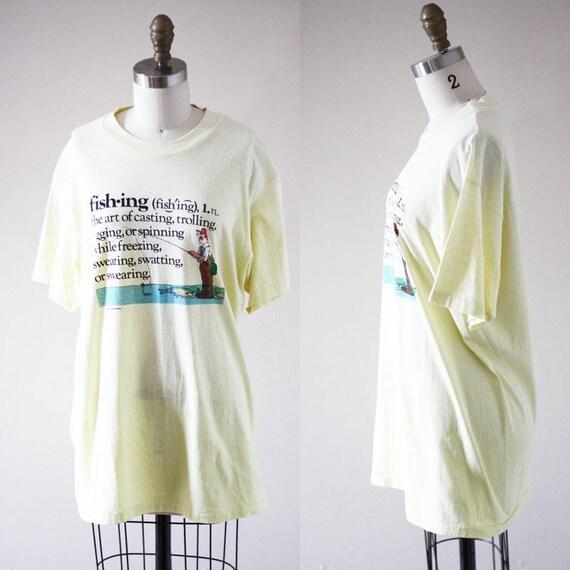 1980s novelty t-shirt // 1980s fishing t-shirt // vintage t-shirt