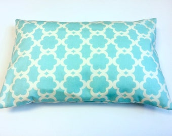 Travel Pillowcase, Travel Pillow Cover, Childs Pillowcase, Aqua Abstract Print by 8th Day Encore