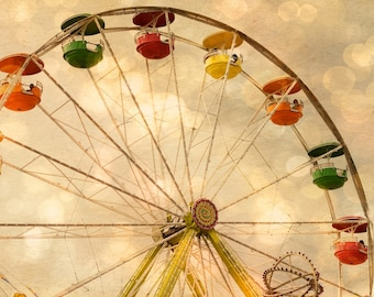 State Fair - Ferris Wheel -  Fine Art Print - Summer Fun