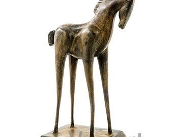 Trojan Horse Sculpture Horse statue Vintage horse art equine sculpturetroy greek mythology greek bronze horsetrojan war Helen of troy