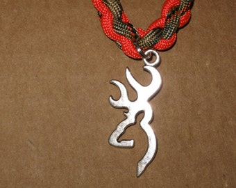 Paracord necklace with deer charm