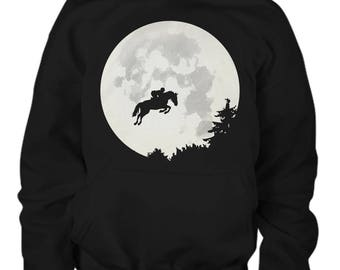 Moon Jumper Youth Horse Hoodie / horse sweatshirt / equestrian gifts / horse gifts / horse clothing / horse gear / gift for horse lover /
