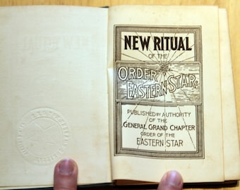 1929 New Ritual of the Order of the Eastern Star hardcover antique vintage classic