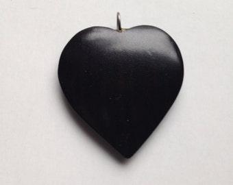Custom Crafted African Blackwood Heart Pendant