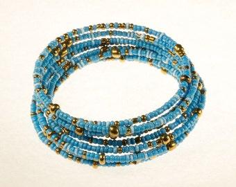 Blue Twirl Bracelet