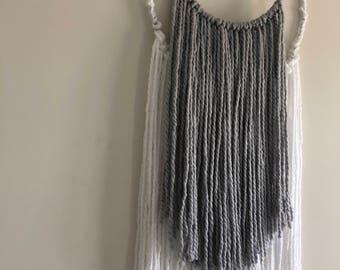 Two tone hoop wall hanging
