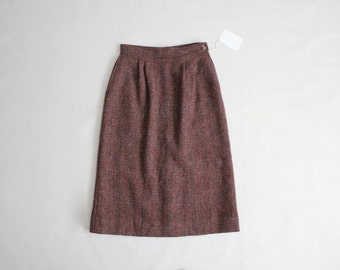 mauve wool skirt | tweed midi skirt | tweed wool skirt