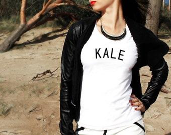 Kale Leaf Women's Ladies UK Top T-Shirt Slogan Style Outfit Gift Tee