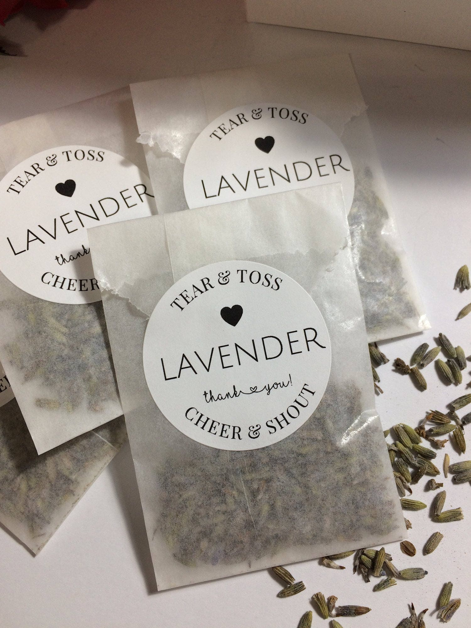 Lavender Wedding Favors in Display Box Eco-Friendly Ready to