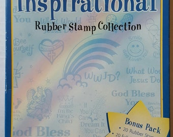 Inkadinkado Inspirational rubber stamp collection stamps all unused
