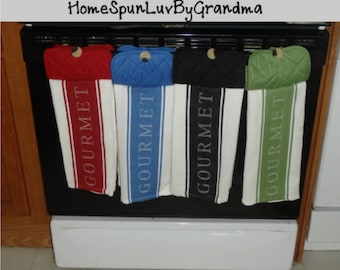 One Towel - Double Layered Gourmet Hanging Kitchen Hand Towel - Choose Your Color