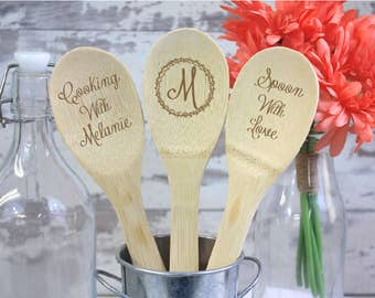 Engraved Wood Spoon - Personalized Wooden Spoon - Housewarming Gift
