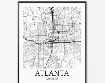 Atlanta art print Atlanta neighborhood art Atlanta