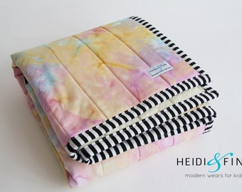 organic baby quilt blanket playmat WATERCOLOR pastels ready to ship watercolour