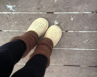 Crochet Pattern - Audrey Boots (Adult Sizes)