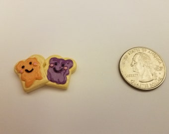 Happy Peanut Butter and Jelly Sandwich resin needle minder, magnet